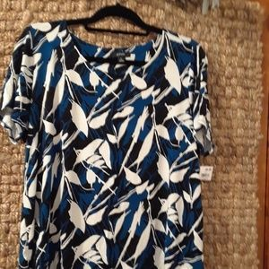 Alfani short sleeve blouse 1x